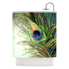 Deny Designs Peacock Shower Curtain
