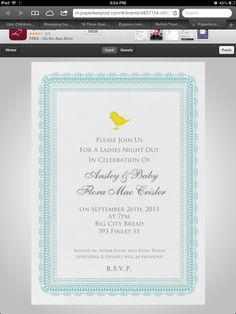 Shower invite from Paperless Post! *Ans