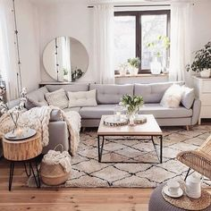 If you are looking for Scandinavian Living Room Design Ideas, You come to the right place. Below are the Scandinavian Living Room Design Ideas. Beautiful Living Rooms, Cozy Living Rooms, Home Living Room, Living Room Designs, Living Room Decor With Grey Couch, Living Room Apartment, Small Living Room Kitchen Ideas, Quirky Living Room Ideas, Living Room With Carpet