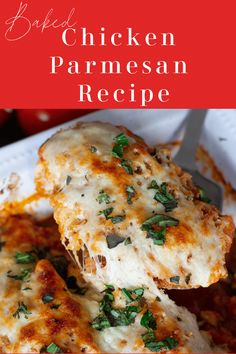 Chicken Parmesan Recipes, Best Chicken Recipes, Baked Parmesan Crusted Chicken, Mozzarella Chicken, Recipe Chicken, Vegan Recipes Easy, Italian Recipes, Kitchen Recipes, Cooking Recipes