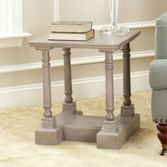 Safavieh Cape Cod Grey End Table | Overstock.com Shopping - Great Deals on Safavieh Coffee, Sofa & End Tables