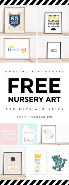 free printables for kids | nursery art | nursery themes