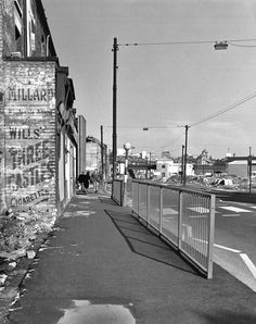 Midland Bank, Nottingham City Centre, Derelict House, Slums, Aerial View, Looking Back, Street View, Distance, 1960s