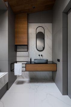 its-my-living: Minimalist Bathroom Inspiration Washroom Design, Bathroom Interior Design, Modern Interior Design, Modern Toilet Design, Bathroom Mirror Design, Vanity Design, Studio Interior, Modern Interiors, Bathroom Layout