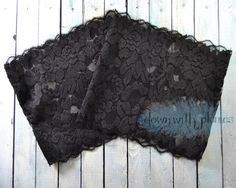 Lace Boot Cuffs- Handmade lace boot cuffs- Stretch lace boot cuffs- Multiple colors available- Black boot cuffs- FREE SHIPPING- $15