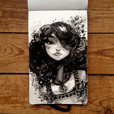 Moon - All my inktober 2014 drawings. Enjoy!
