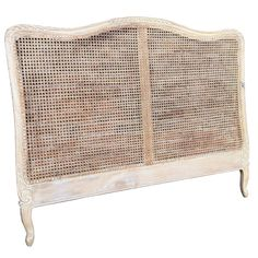 French Headboard in Natural Cane - Washed Finish – Allissias Attic & Vintage French Style