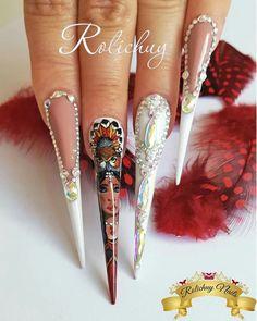 Stiletto nails ❤❤❤ Stiletto Nails, Edgy Nails