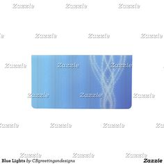 Blue Lights Checkbook Cover