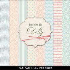 Nueva Freebies Kit de Fondos - Dolly.