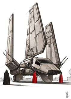 Darth Vaders Shuttle, Shane Molina on ArtStation at https://www.artstation.com/artwork/OawyK