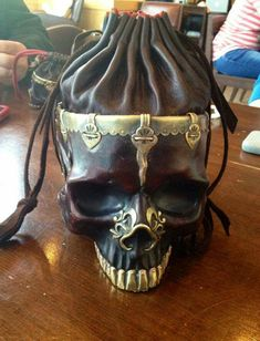 Skull purse...maybe not a purse but still cool!!