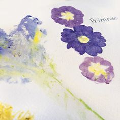 Madeline loves collecting, drying and pressing flowers!  What a fun idea to make cards with them!