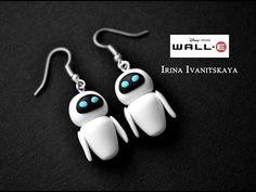 "Earrings EVE (WALL-E) polymer clay tutorial / Серьги ""Ева"" мастер класс - YouTube"