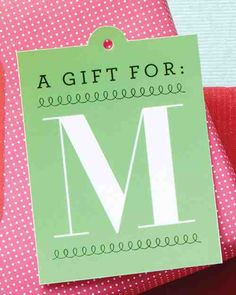 Personalize gifts with a grand monogram made by printing our 26-letter clip art onto card stock.Print the Monogram Gift Tag Clip Art