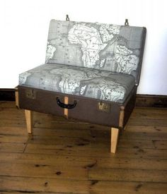 Map Print chair