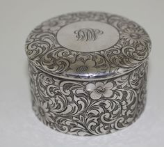 Tiffany Sterling Dresser Box, c.1900