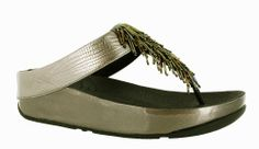 Fitflop Cha-Cha Ladies Beaded Toe Post Casual Mule Sandal - Robin Elt Shoes  http://www.robineltshoes.co.uk/store/search/brand/Fitflop/ #Spring #Summer #SS14 #2014 #Sandals
