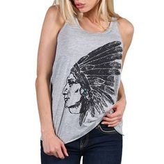Bohemian Cowgirl Women's Great Headdress Tank