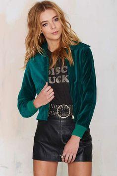 Vintage Emerald Isle Velvet Jacket