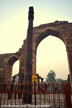 This is the famous 'Iron Pillar' #QutubMinar #TouringTravellers