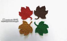 #코바늘 #단풍잎 #만들기 #crochet #maple #leaves #diy #handmade #뜨개질