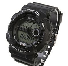 Unisex Multi-Functional Silicone Band Digital Sporty Wrist Watch (Black) $7.96