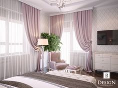 ideas for bedroom pink decor curtains ideas for bedroom pink decor curtains Shabby Chic Bedrooms, Trendy Bedroom, Modern Bedroom, Elegant Curtains, Colorful Curtains, Living Room Decor, Bedroom Decor, Bedroom Curtains, Natural Bedroom