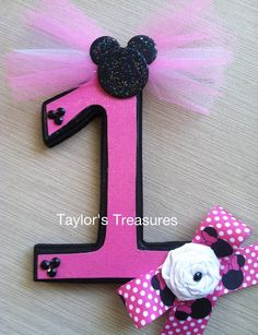 Taylors Treasures - Minnie Mouse 1st Birthday Photo Prop - Can Be Done In Any Pattern - Perfect for Photo on Etsy, $14.99