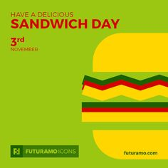 Have a delicious Sandwich Day! All #icons used in the series are available in our App. Imagine what YOU could create with them! Check out our FUTURAMO ICONS – a perfect tool for designers & developers on futuramo.com icondesign  #icons  #iconsystem  #pixel #pixelperfect  #flatdesign  #ux  #ui  #uidesign  #design #developer  #webdesign  #app  #appdesign #graphicdesign