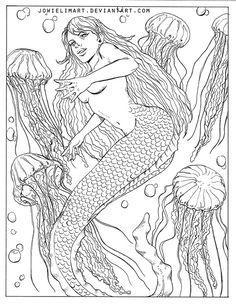 Fish Series: Jelly Fish by JowieLimArt.deviantart.com on @DeviantArt