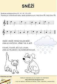 Výsledek obrázku pro zimní písničky pro mš Sheet Music, Math, Poem, Math Resources, Music Sheets, Mathematics
