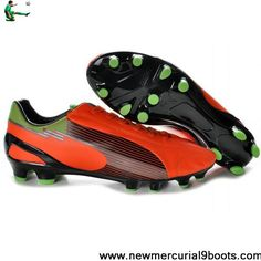 Buy 2013 New Puma Evospeed 1 K FGs Orange Black Green Soccer Shoes On Sale