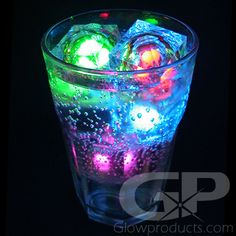 Make any drink a mesmerizing mash of color for the Glow Party! - https://glowproducts.com/us/multilightedicecube