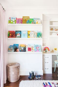 Amber Interiors - Before and After - Client Second Times A Charm - Neustadt - 21 Interior Design Inspiration, Home Decor Inspiration, The Napping House, Book Ledge, Book Wall, Amber Interiors, Little Girl Rooms, Kid Spaces, Kids Bedroom
