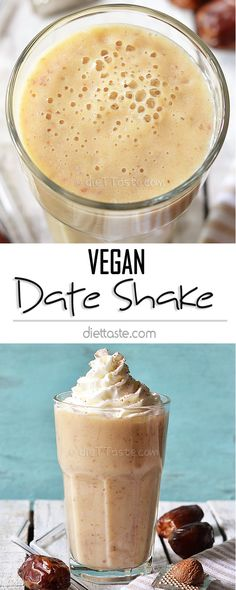Vegan Date Shake - creamy and sweet Palm Springs smoothie, healthy and dairy-free!