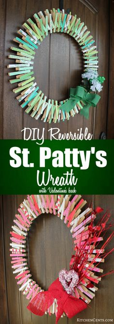DIY Reversible St. Patty's Wreath   KitchenCents.com