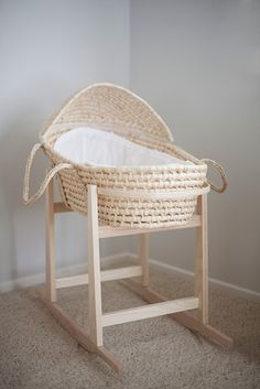 Inexpensive basket and rocking basket stand The perfect baby bassinet rocking stand. CB and J: final countdown Moses basket, with rocking stand. Little Green Notebook: Baby Bassinets