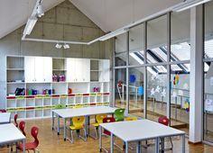 Die österreichische Antwort auf die Initiative Ganztagsschule Basketball Court, Schools, Architecture