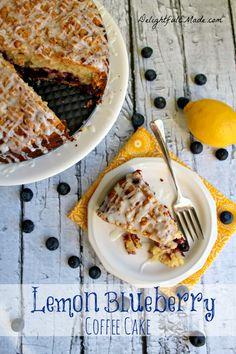 Lemon Blueberry Coffee Cake #yum #cake #lemon