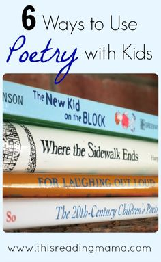 6 ways to use poetry with kids | This Reading Mama Teaching Poetry, Writing Poetry, Poetry Unit, Teaching Writing, 4th Grade Reading, Kids Reading, Reading Skills, Reading Practice, Reading Workshop