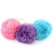 Pom Pom Keychain, Fur Keychain, Kawaii Keychain, Pastel Grunge, Pastel... (13 CAD) ❤ liked on Polyvore featuring accessories, fob key chain, fur pom pom key chain, pom pom key chain and fur key chain