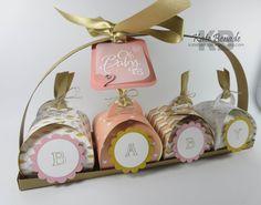 Beautiful handmade new baby gift. katebenade.wordpress.com curvy keepsake box die, lullaby dsp, stampin up, baby we've grown stamp set