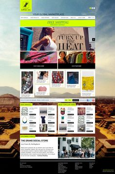 Legacy of Epocas - Ecommerce web design concept Ecommerce Web Design, Rachel Green, Upcoming Events, Anna, Concept, Website