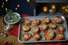 If you're looking for Christmas dinner ideas, try these roasted sweet potatoes with a cheesy Parmesan crust. See more Christmas side dishes at Tesco Real Food. Good Sweet Potato Recipe, Sweet Potato Recipes, Vegetable Dishes, Vegetable Recipes, Smashed Sweet Potatoes, Crispy Potatoes, Parmesan Potatoes, Christmas Side Dishes, Christmas Recipes
