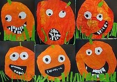 citrouilles géantes Theme Halloween, Halloween Arts And Crafts, Halloween Crafts For Toddlers, Crafts For Seniors, Fall Crafts For Kids, Family Crafts, Fall Halloween, Halloween Decorations, Art For Kids
