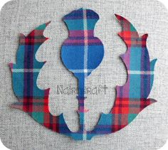 1 x7 inches high, Scottish Thistle Design, Tartan,Wool Fabric,Cut Out,Iron/Sew On,Applique by Nairncraft on Etsy £3 plus P&P.