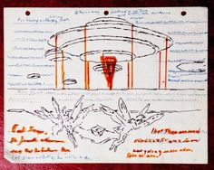 Mysterious Box Contains Detailed Drawings of Winged Aliens ~ A box has been found containing detailed drawings of alien beings, an unidentified flying object, and transcripts exploring the link between alien encounters and ancient religions. The musty box contains clues, but also raises many questions, it's a mystery.  It appears to have belonged to a man named Daniel J. Christainsen who lived in Florida but was a native of the Netherlands.
