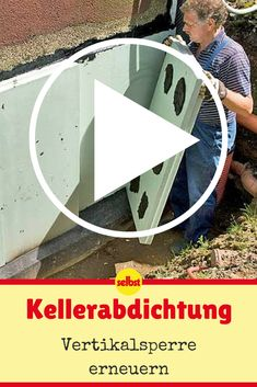 Feuchtes Mauerwerk, muffiger Geruch – Zeit, den Keller ordentlich abzudichten!  #video #videotutorial #keller #dichtung #schimmel #wasser #diy #selbermachen