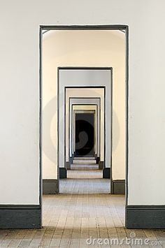 Hall of many doors by Glenn Nagel, via Dreamstime